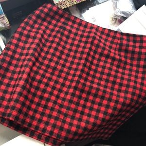 plaid skirt f21